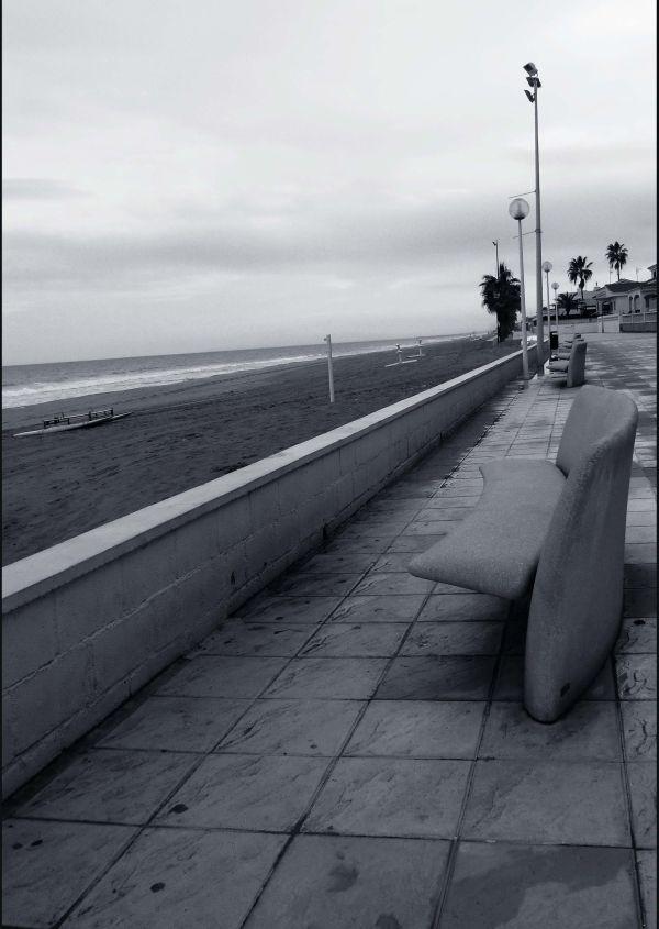 Beach Promenade in Winter