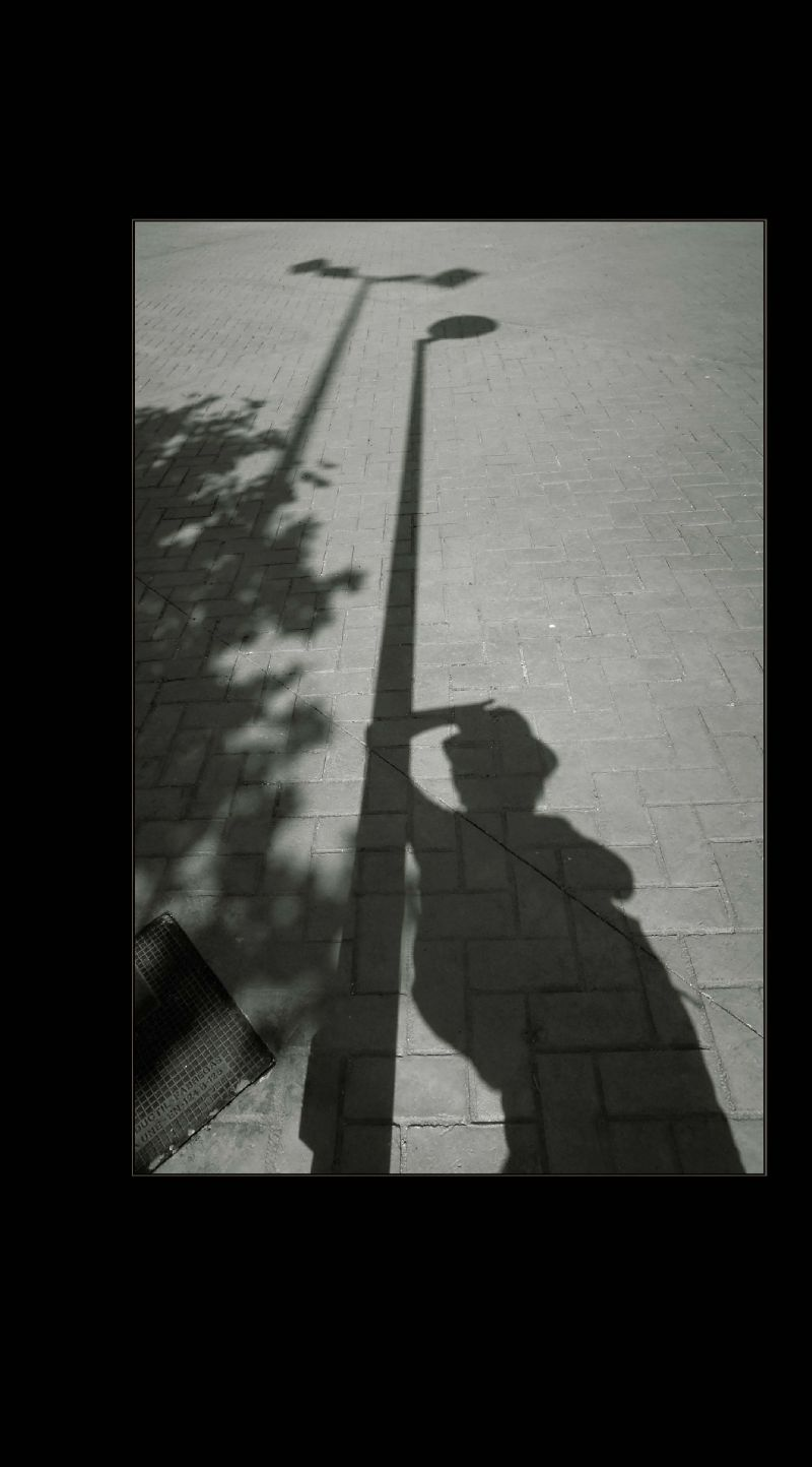 Self-Portrait by The Lamp Post