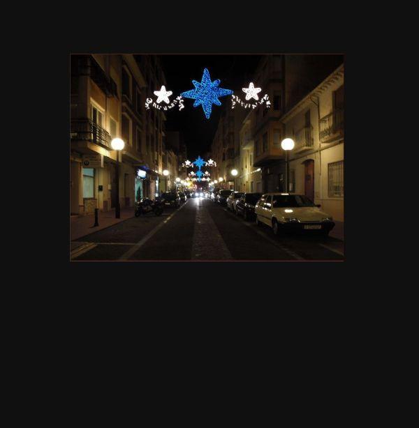 Christmas illuminations in The Street
