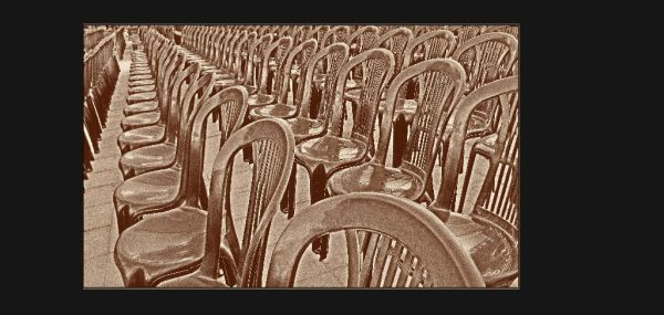 Lined up Chairs