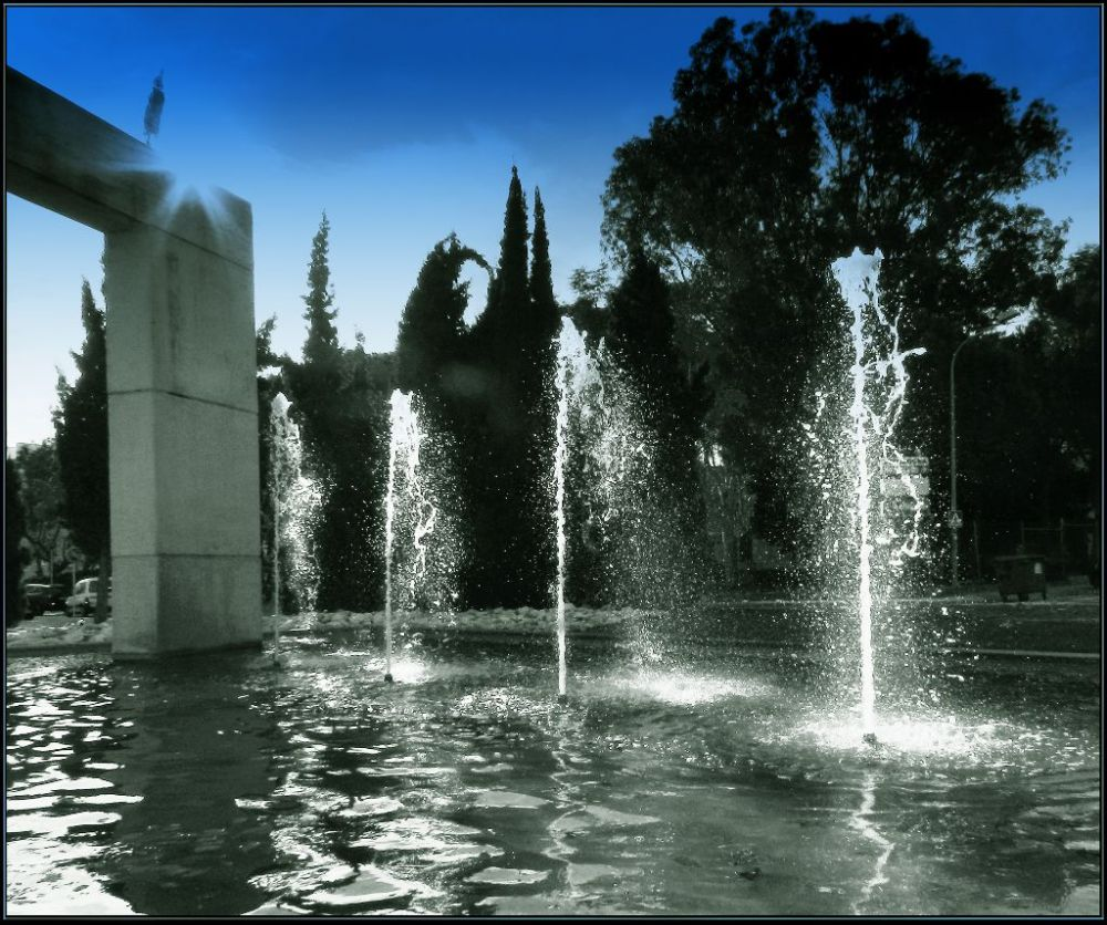 Fountain of  The Winter Pond