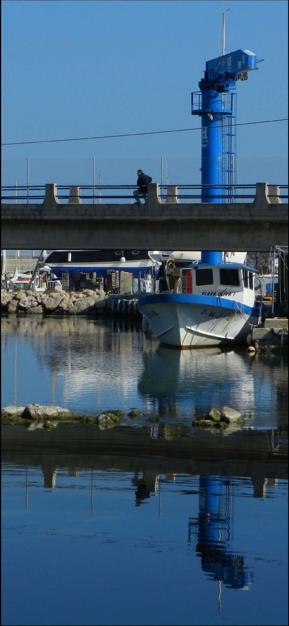 Tiny Fishing Port in Oliva