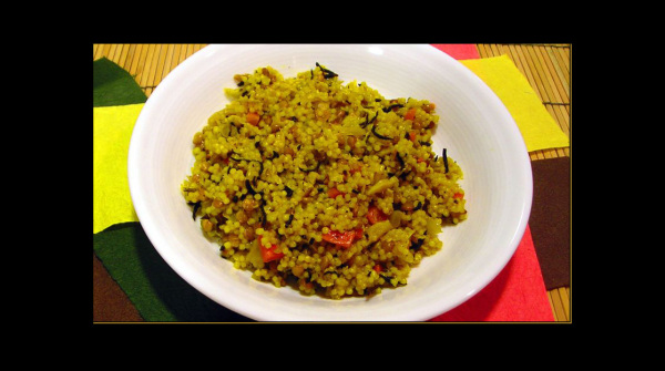 Couscous with Dried Seaweed