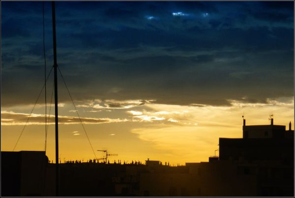 Dark Rain Clouds at The Daybreak