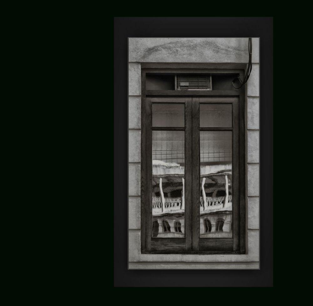 Reflection of The Window B&W
