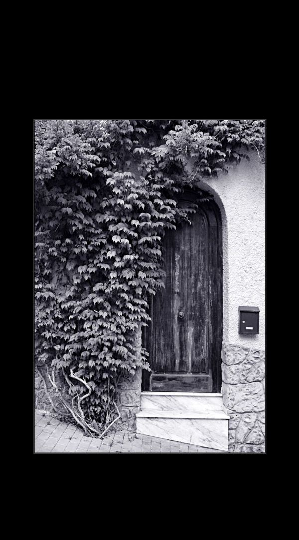 Ivy Covered Entrance Door