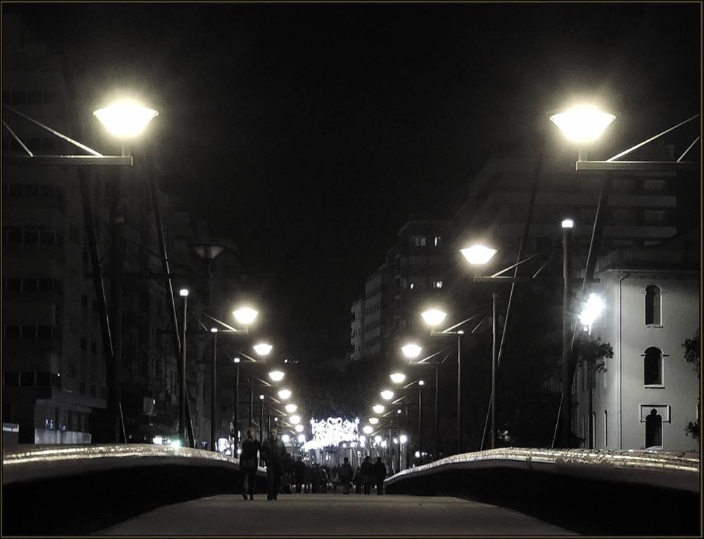Gandia Bridge in The Night