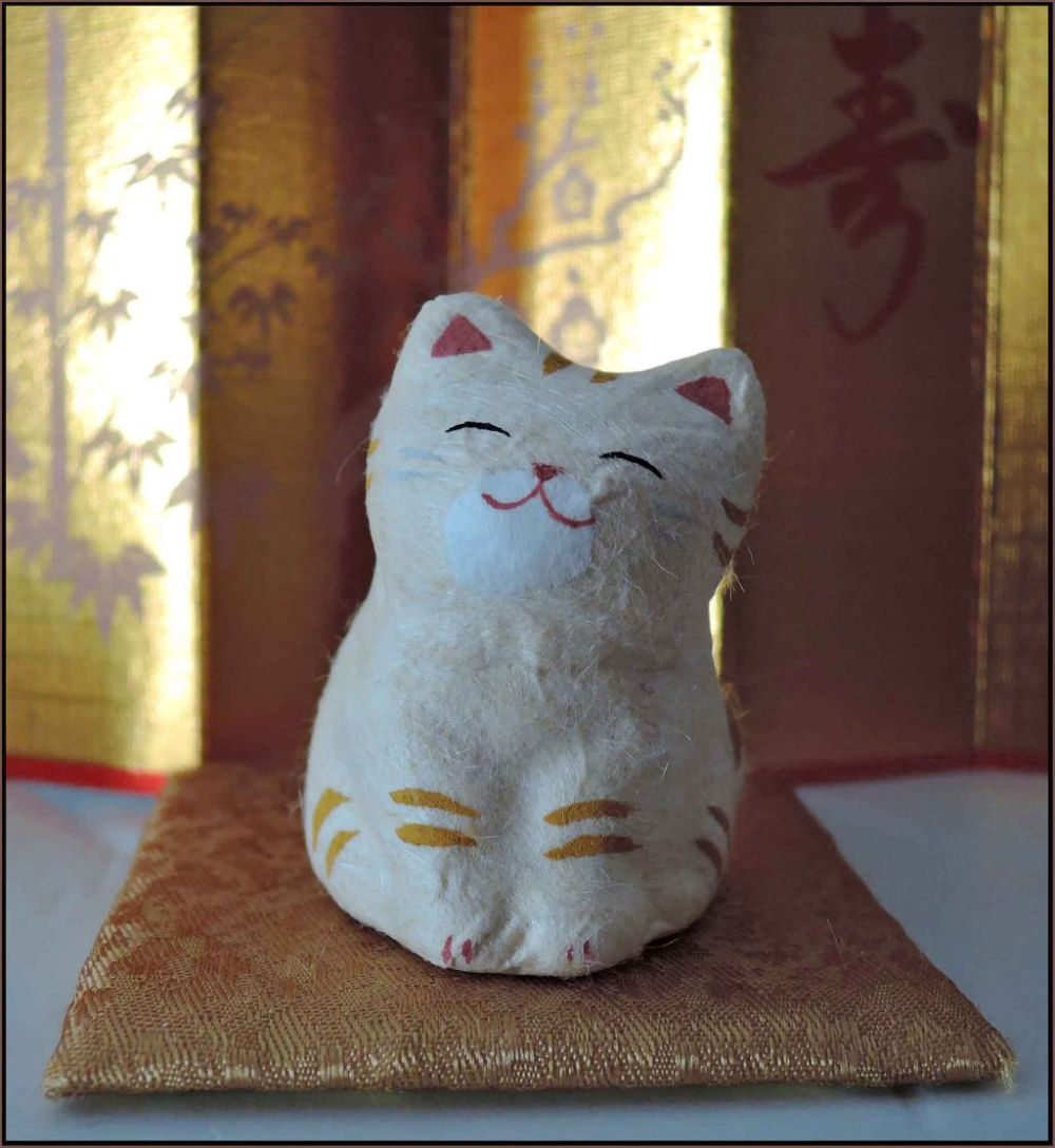 Ceramic Cat - Oideyasu!