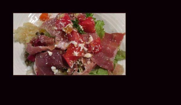 Mix Vegetable Salad with Raw-Ham