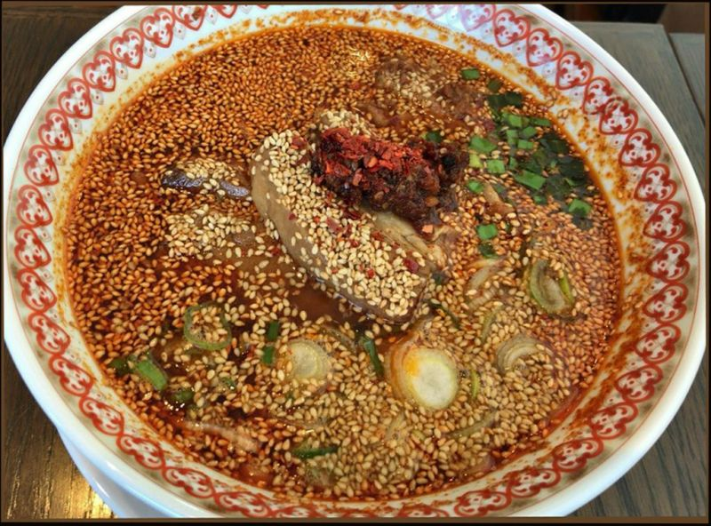 Spicy Dandan Noodles with  Sesame Seeds