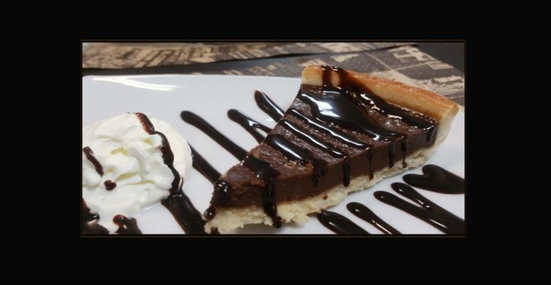 Chocolate Tart with Whipped Cream