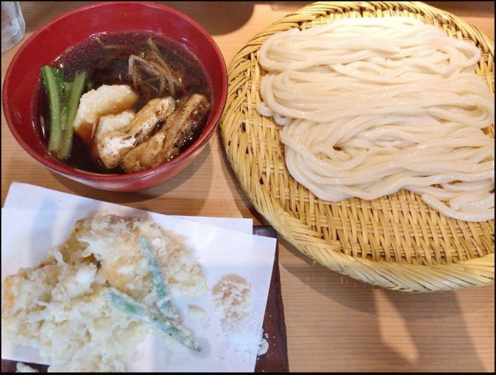 Tempura with Chilledwheat Flour Noodle
