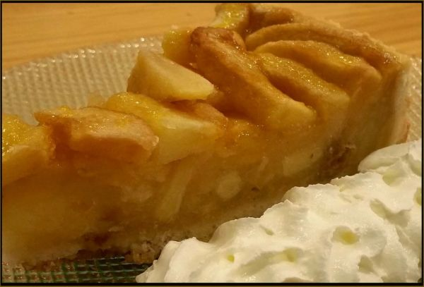 Apple Tart with Whipped Cream