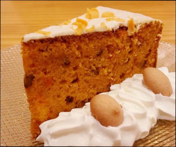 Carrot cake with Whipped Cream