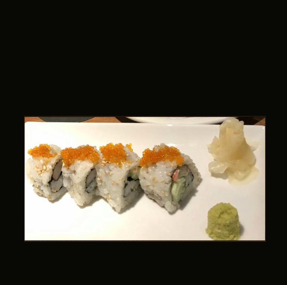 California Roll with Fryingfish Roe