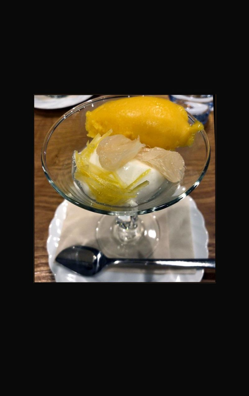 Citrus Fruits Blancmange