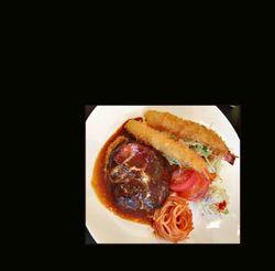 Hamburg Steak & Ebi Fry - Deep Fried Breaded Praw