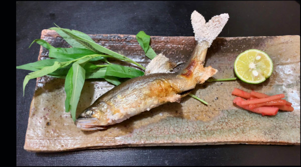 AYU no SHIOYAKI - Salted and Grilled Sweetfish