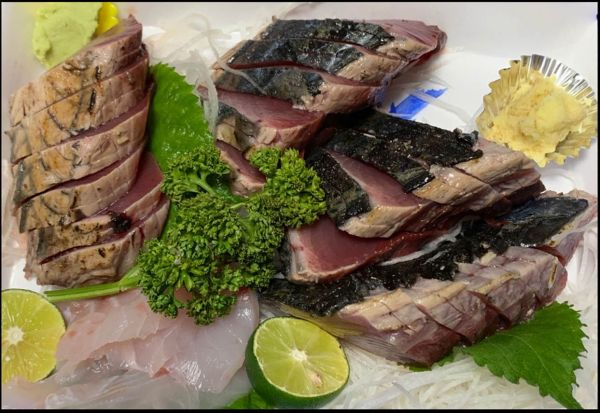 Katsuo Tataki  (Seasoned Seared Skipjack Tuna)