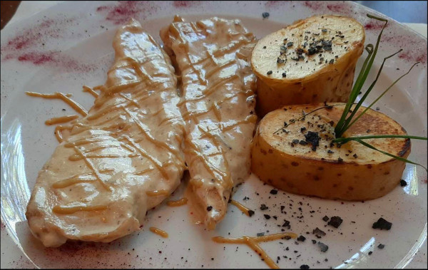 Grilled Chicken Breasts with Fine Herb Mayonnaise