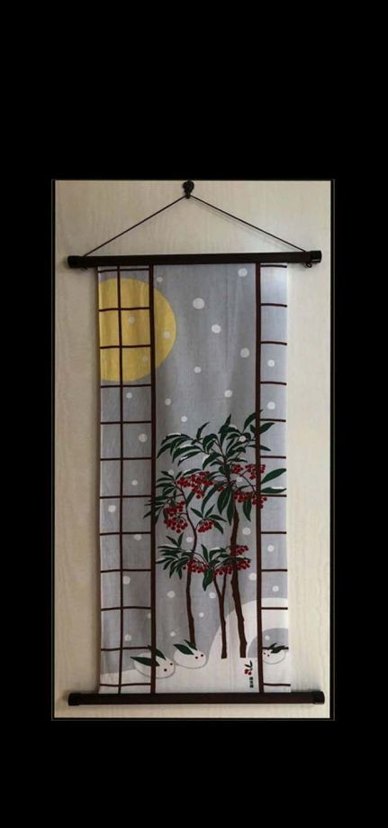 Tenugui Art of February -JapaneseTenugui Tapestry