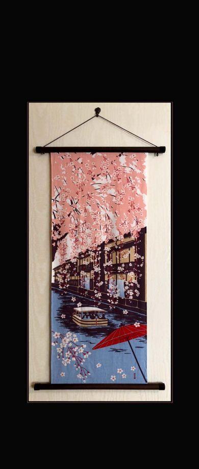 Tenugui Art of April - JapaneseTenugui Tapestry