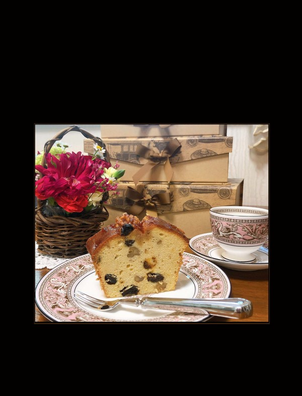 Raisin and Walnut Pound Cake