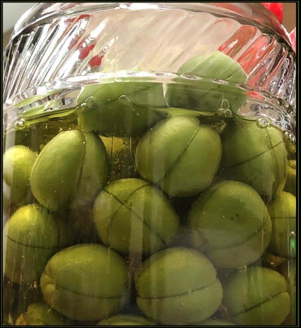 Honey Pickled Green Plum