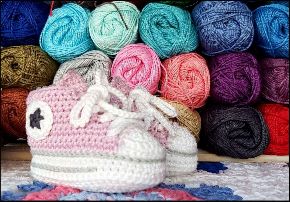 Knitted Baby Shoes - (Pimk)