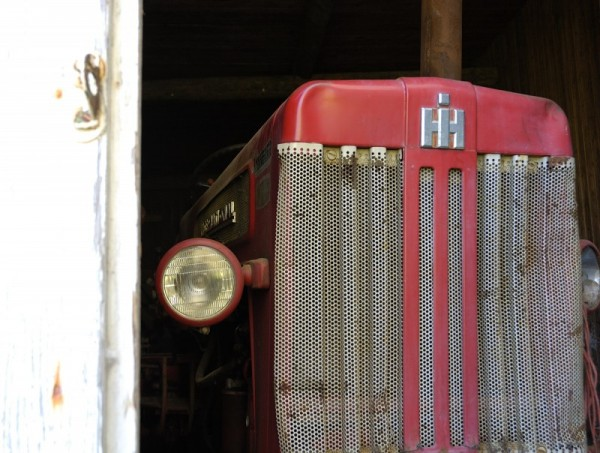 Old tractor in abandonned house