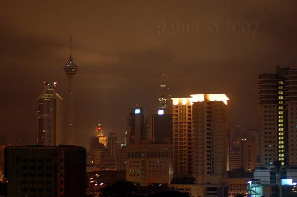 Kuala Lumpur City At Night 1.00am