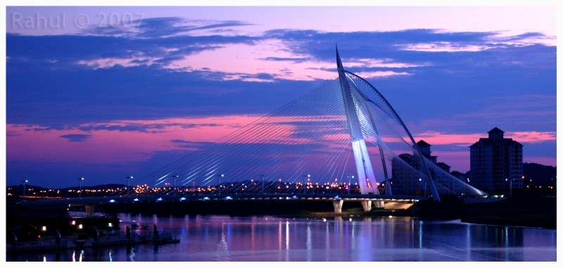 Putrajaya Bridge At Sunset