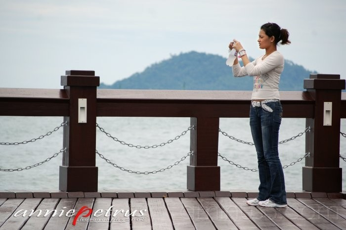 Girl At The Jetty