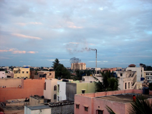 bangalore sky with cumulus clouds
