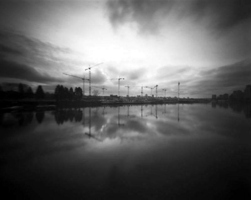 Cranes by False Creek