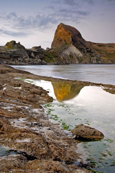 reflection of Castle Rock, NZ