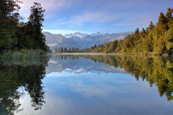 reflection at lake matheson