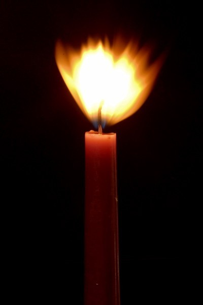 shot of a candle burning