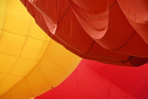 hot air balloon abstract