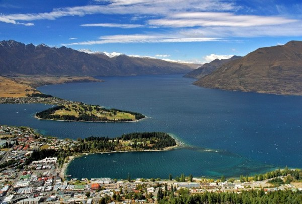 Aerial view of Queenstown, NZ