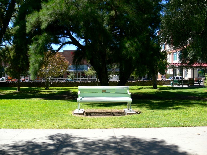 A bench where you could stay all day long