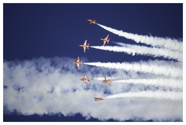 The Red Arrows Stunt Team in action.