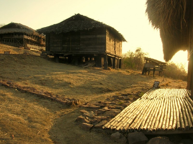 The village at dusk