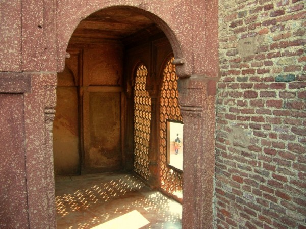 The inside of the Agra fort