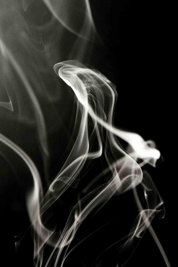 candle smoke home