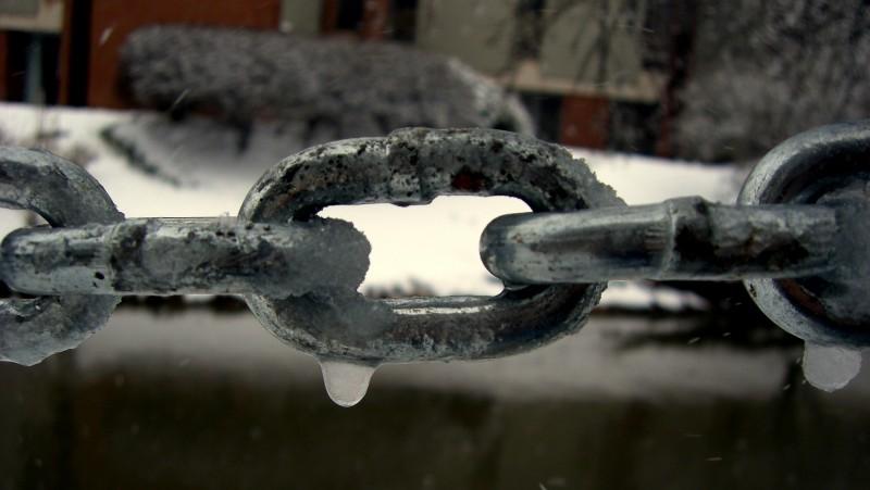 Detail of Frozen Chain