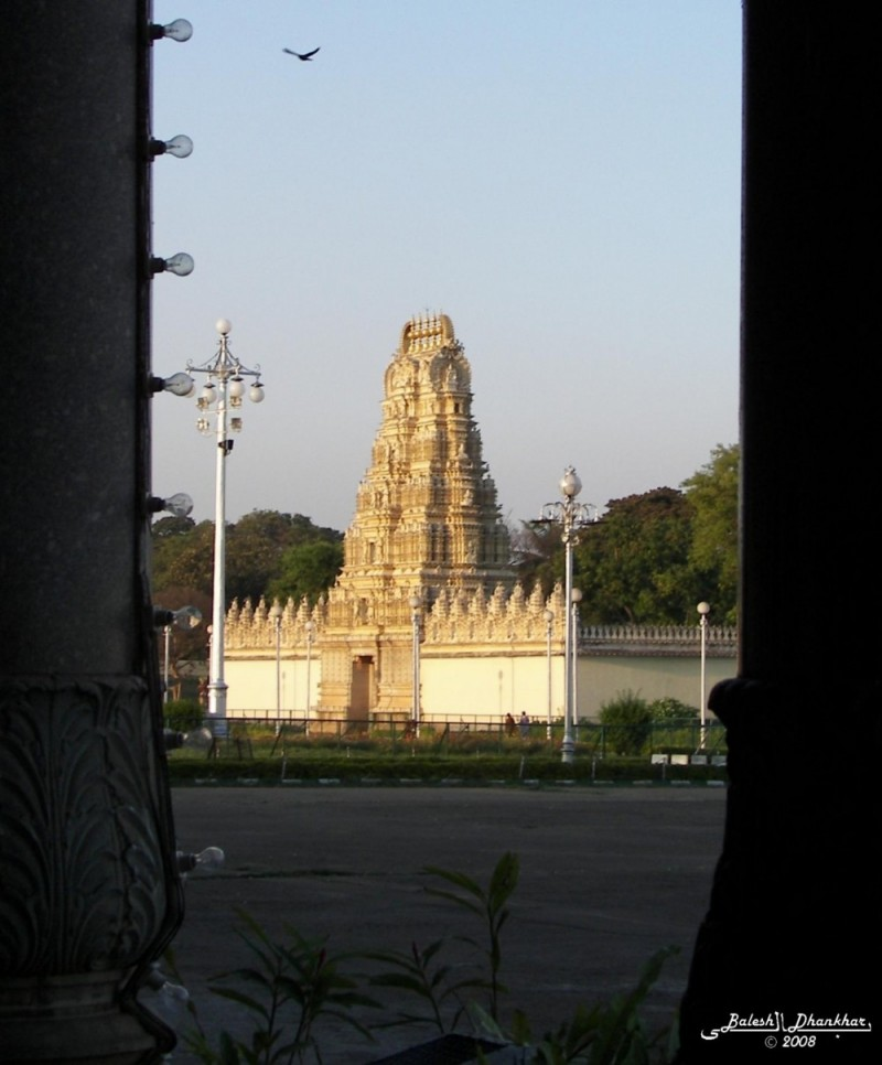 Temple through the fort