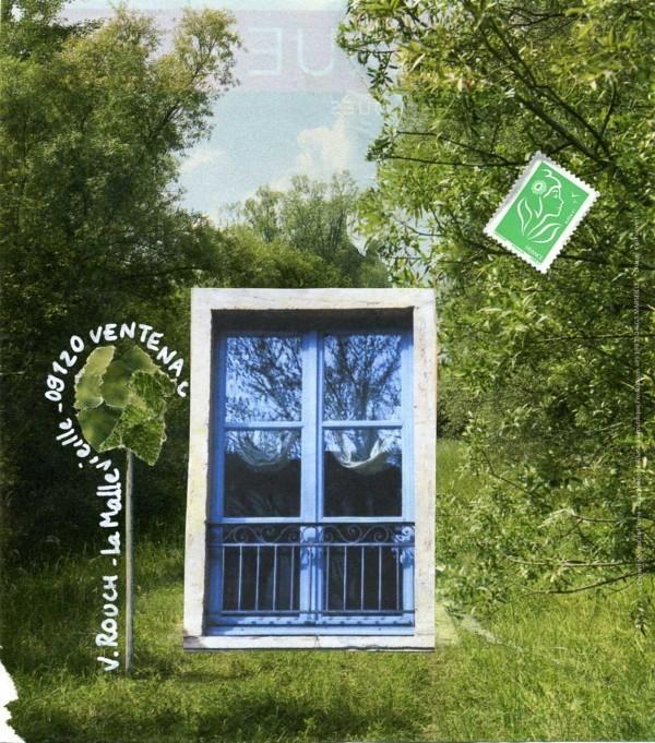 Une fenêtre dans les arbres