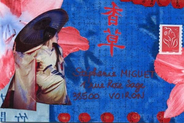 Geisha au lys.
