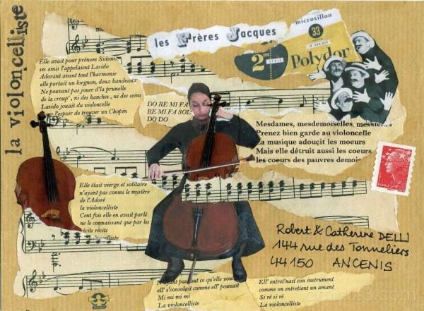 la violoncelliste des Frères-Jacques